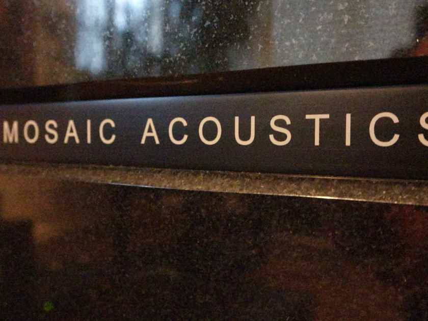 Mosaic Acoustics Illumination Midnight Black with Reference External Crossover