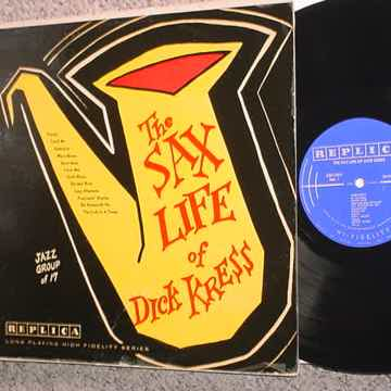 JAZZ The Sax Life of Dick Kress lp record SEE ADD SEAM SPLITS VG+