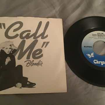 Blondie Call Me 45 With Picture Sleeve Vinyl NM