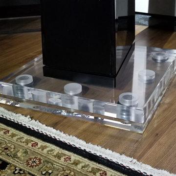 Custom-Machined Speaker Isolation Podiums - Clear Acryl...