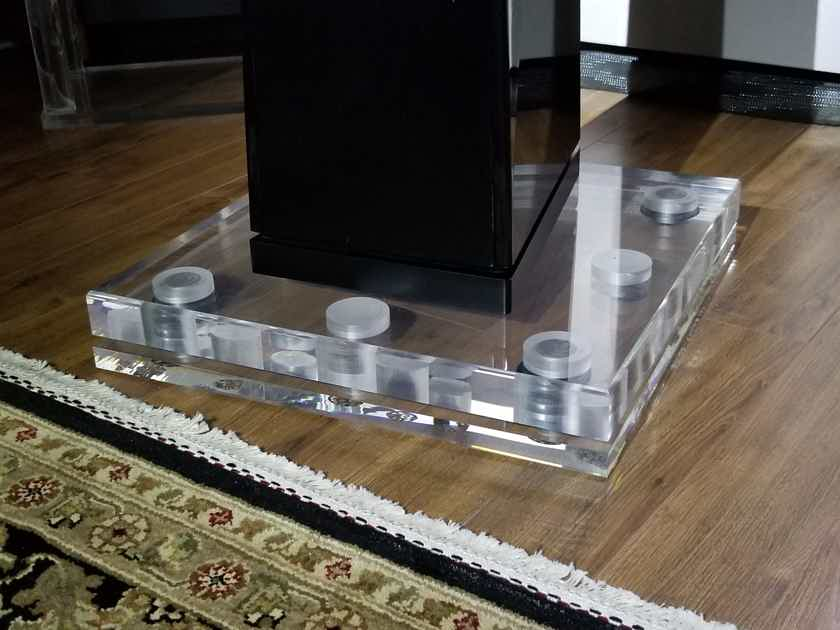 Custom Speaker Isolation Platforms - Clear Acrylic