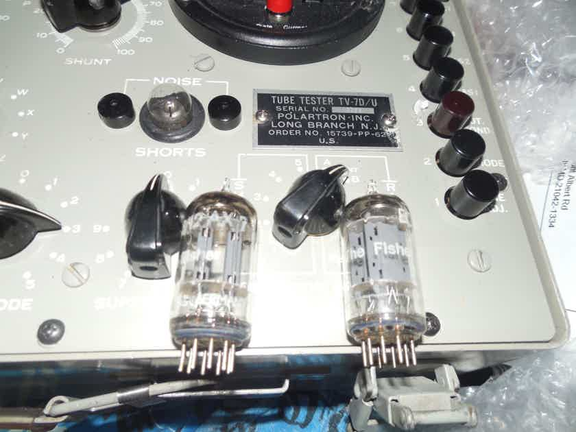 2 very nice test nos tightly matched telefunken fisher smooth plate 12ax7 tubes
