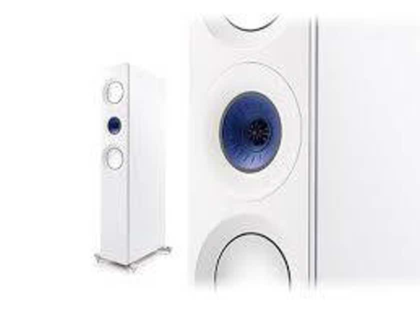KEF Reference 3 Floor Standing Speakers Blue Ice Finish Pair