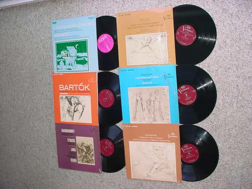 Classical RCA Victrola lot of 6 lp records Strauss Mendelssohn Tchaikovsky Bartok more