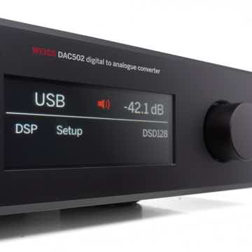 Weiss DAC 502 d/a converter with network renderer/headp...