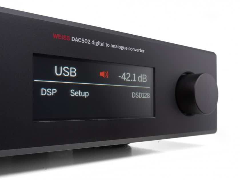 Weiss DAC 502 d/a converter with network renderer/headphone amp—Roon Ready NEW PRICE