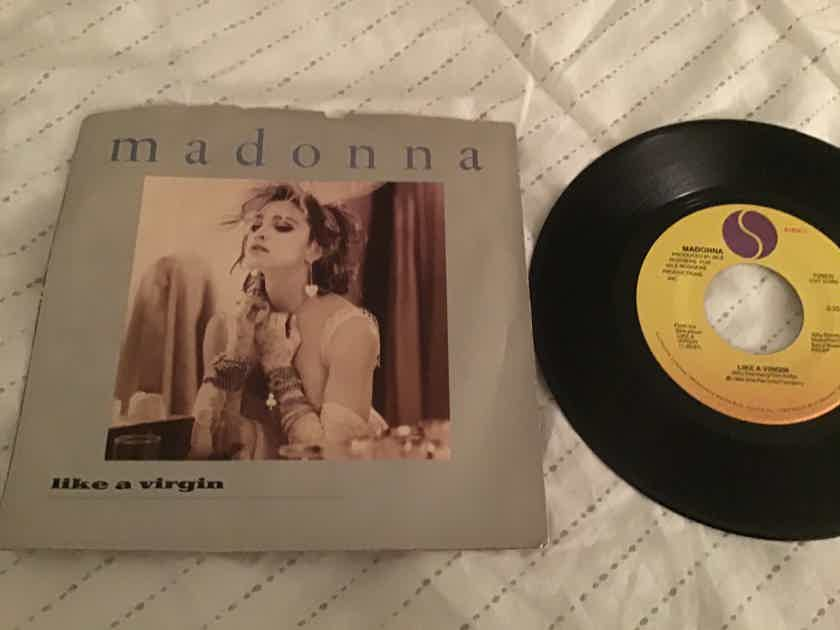 Madonna  Like A Virgin 45 With Picture Sleeve