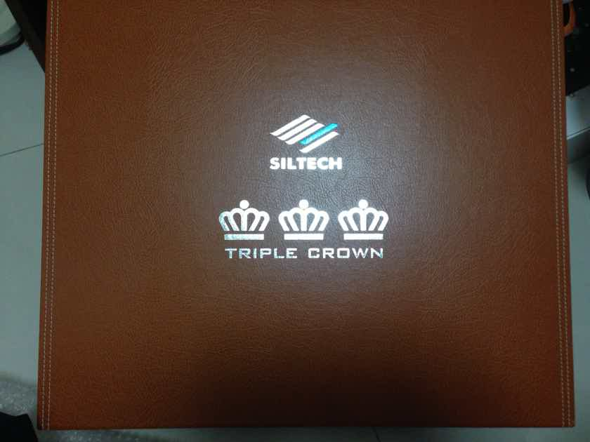Siltech Cables Triple Crown Speaker Cables 2.5m Spades Like New!!