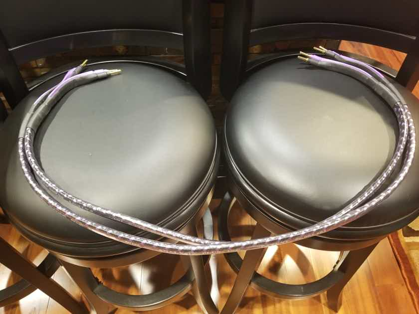 Analysis Plus Solo Crystal Oval 8 Speaker cables 4FT Pair Bananas *Lowest Price!