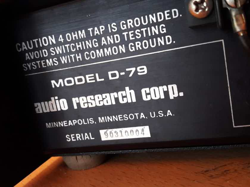 Amplifier Audio Research D-79  +++PERFECT+++