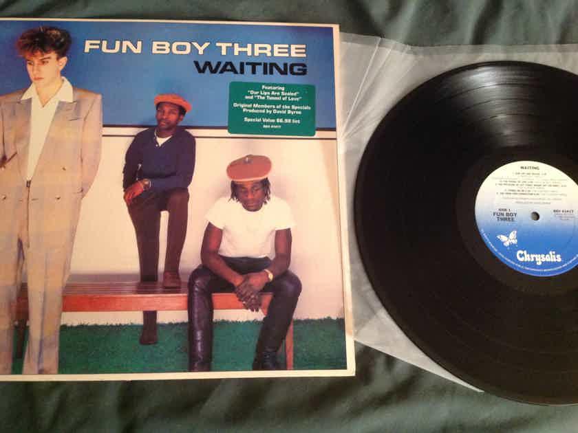 Fun Boy Three  Waiting Chrysalis Records Hyper Sticker David Byrne Producer