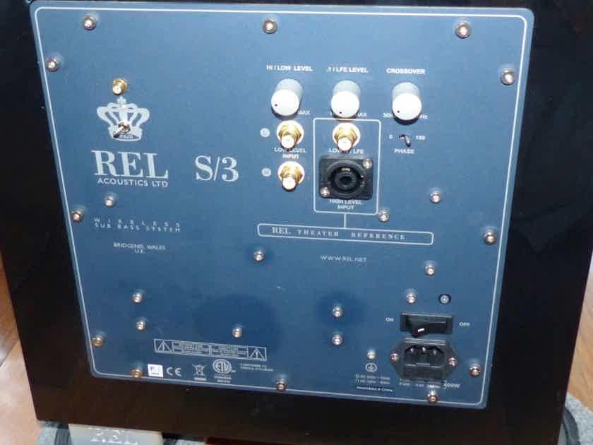 REL Acoustics S-3  Sub Bass System Black