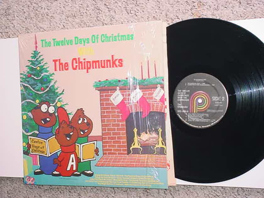 The Chipmunks lp record in shrink the twelve days of Christmas