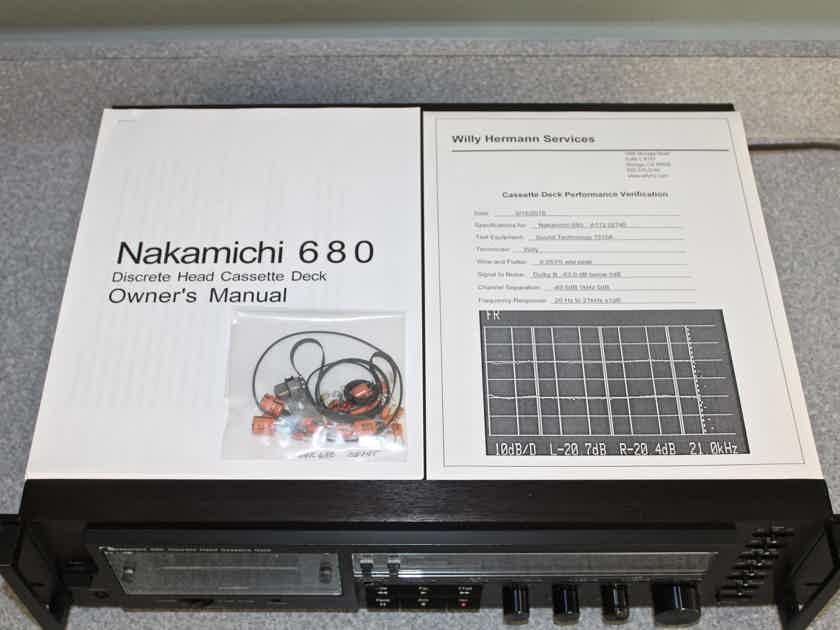 Nakamichi 680 stereo cassette deck WILLY HERMANN SERVICED