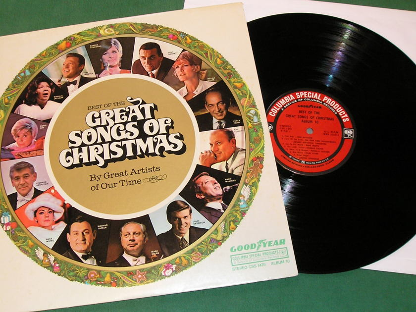 BEST of the GREAT SONGS of CHRISTMAS - * 1970 COLUMBIA SPECIAL PRODUCTS - GOODYEAR * CSP1a LABEL - NM 9/10