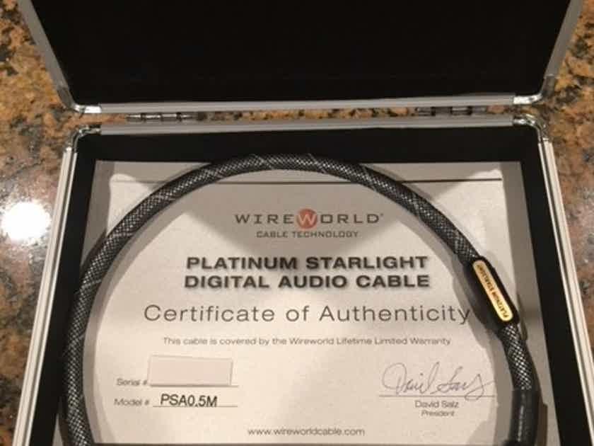Wireworld Platinum Starlight Balanced Digital AES/EBU 0.5M Cable XLR's