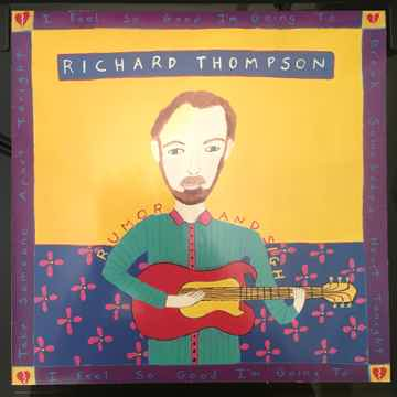 "ORIGINAL 1991 UK/Euro Richard Thompson ""Rumor and Sigh..."