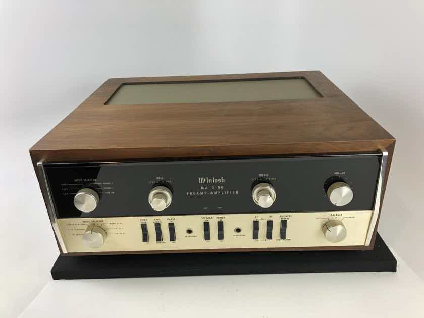McIntosh MA-5100 Integrated Amplifier with Dual Phono Inputs and Case