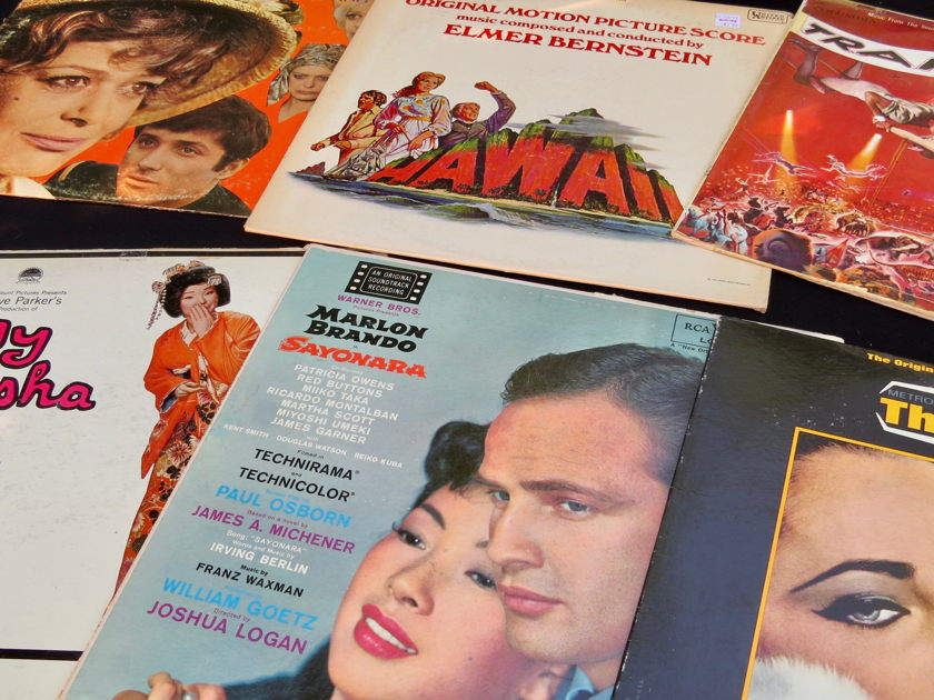Soundtrack Lover on a Budget:  25 - LPs, Bernstein, Rozsa, Tiomkin, Waxman, Mancini, many great titles, for a song!