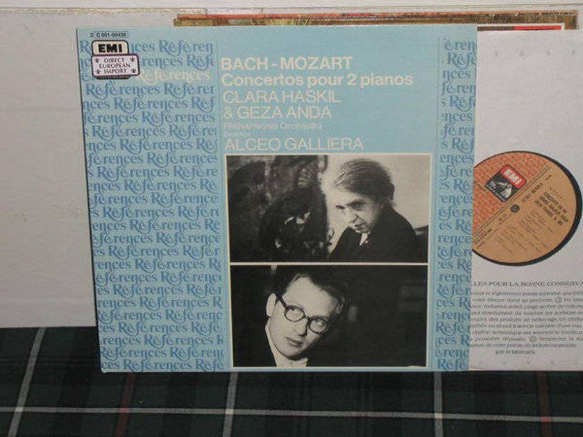 Galleria/Clara Haskil/PO - Bach/Mozart Ctos for 2 pianos EMI/France LP  PM 322
