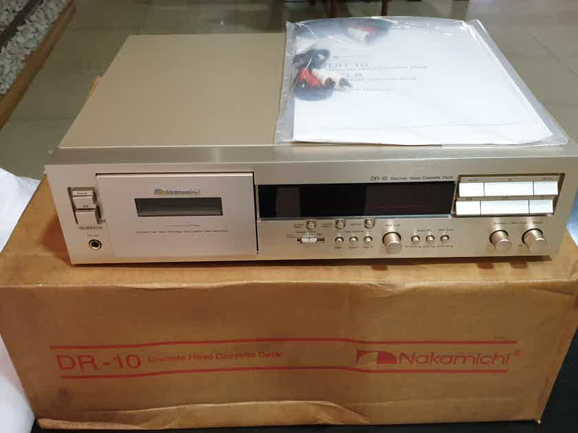 NAKAMICHI DR10 Cassette Tape Deck DR-10 3-Head NEW OLD STOCK Condition 230V