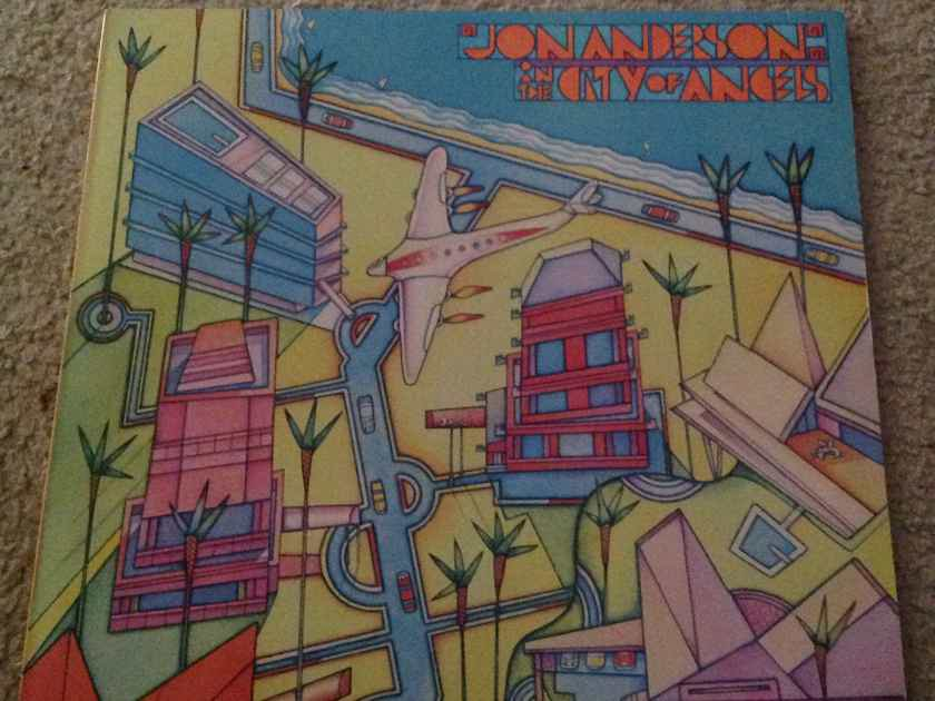 Jon Anderson(Yes) - In The City Of Angels Columbia Records Vinyl LP NM