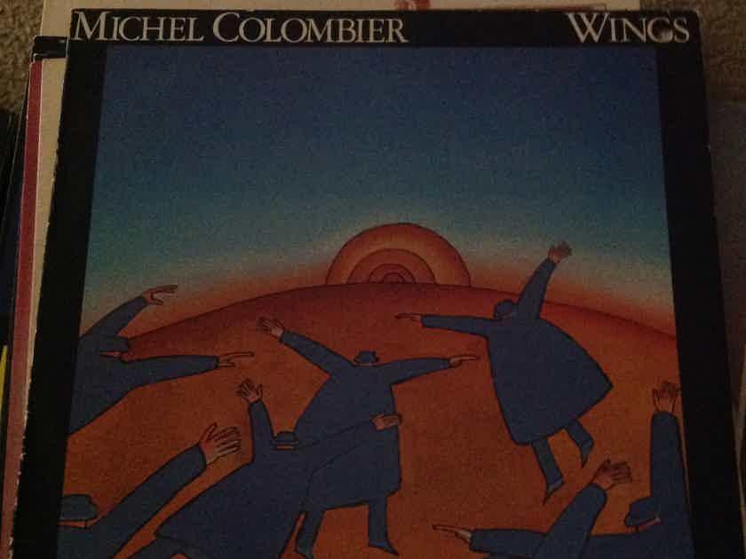 Michel Colombier - Wings A & M Records Label Promo Sticker Back Cover Vinyl LP  NM