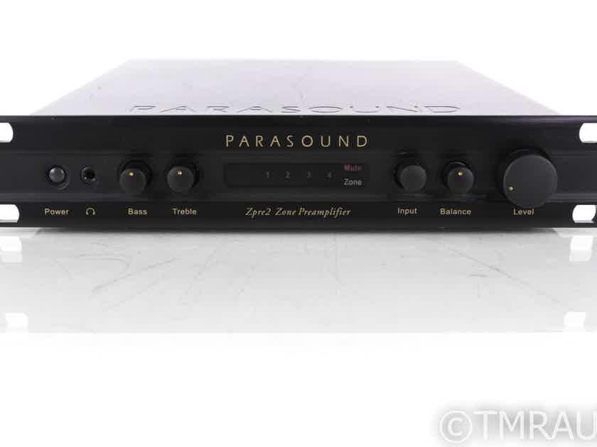 Parasound ZPre2 Stereo Preamplifier; Remote (20081)