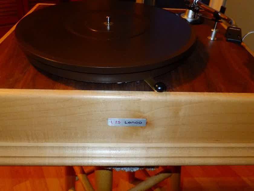 Custom Lenco restoration Based on L-75 heavy platter Audiofile Denon 305 tone arm