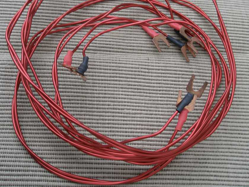 AntiCables red speaker cable - 5 ft pair with spades
