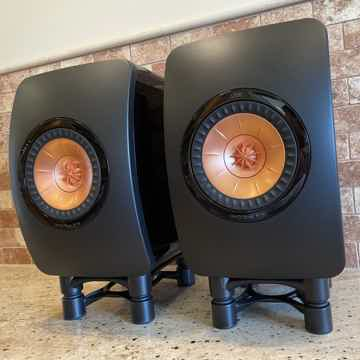 KEF LS50 Mini Monitor Speaker Pair - Piano Black