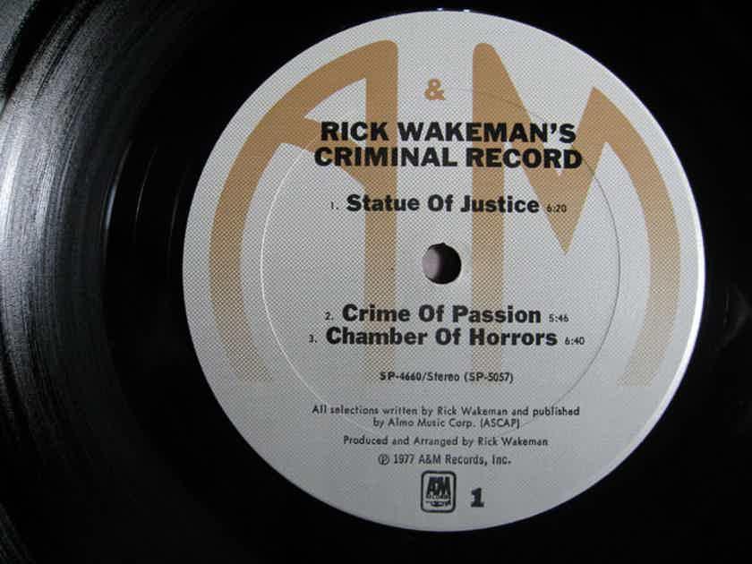 Rick Wakeman - Rick Wakeman's Criminal Record - 1977 A&M RecordsSP-4660