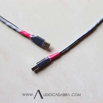 Audiocadabra Xtrimus™ Solid-Silver SuperQuiet™ USB Cabl...