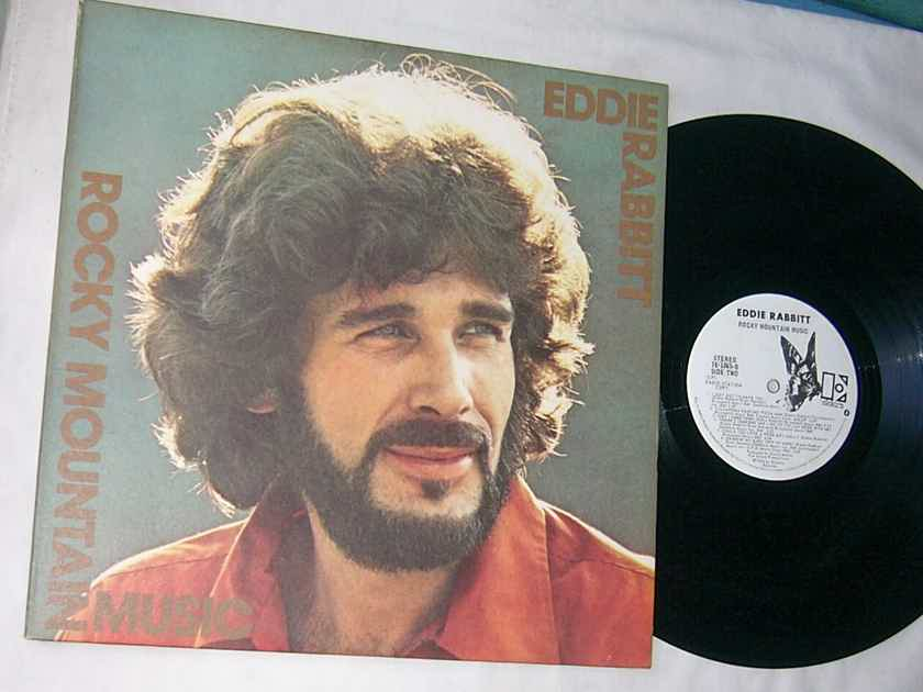 EDDIE RABBITT -  ROCKY MOUNTAIN MUSIC - RARE 1976 WHITE LABEL PROMO LP
