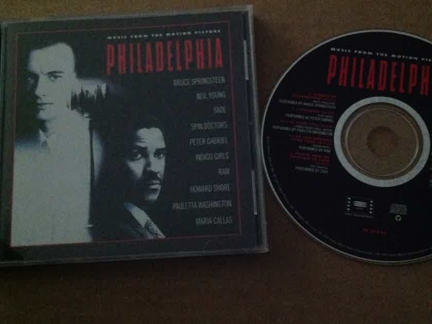 Bruce Springsteen Neil Young - Philadelphia Soundtrack Columbia Records Compact Disc