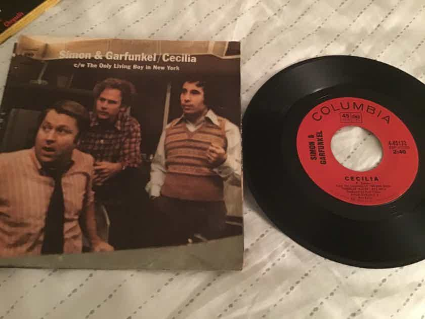 Simon & Garfunkel 45 With Picture Sleeve Vinyl  Cecilia/The Only Living Boy In New York
