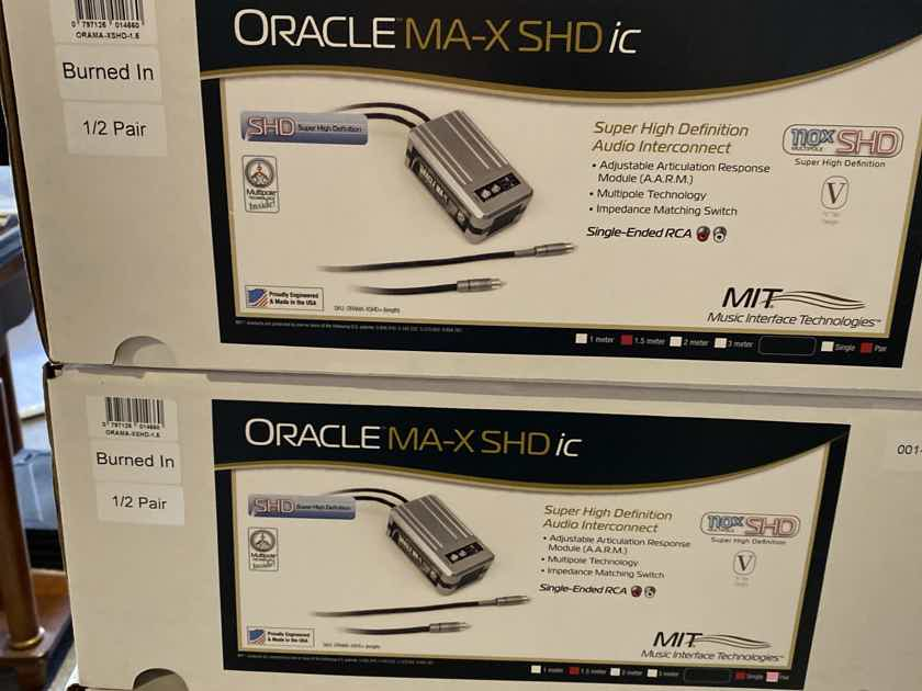MIT Oracle MA-X SHD RCA Interconnects with 1.5 meters
