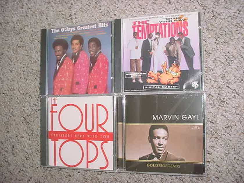 CD LOT OF 4 soul CD'S OJAYS Four tops Temptations Marvin Gaye