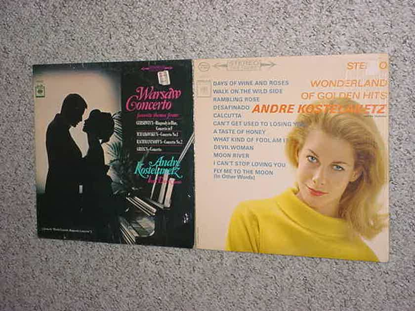 Andre Kostelanetz 2 lp records Warsaw concerto & Golden hits in shrink