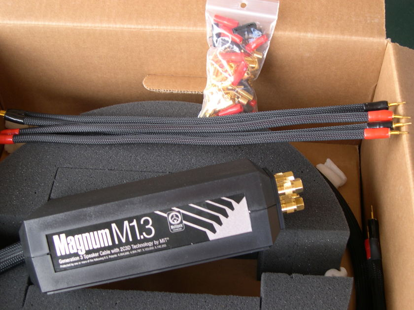 MIT Magnum M1.3 BiWire. Rare 12 ft pair Demo in 10/10 condition.  FINAL PRICE REDUCTION! LIFETIME WRNTY