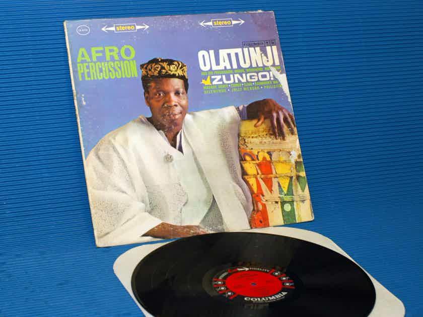 "OLATUNJI  - ""Zungo / Afro Percussion"" -  CBS '6 Eye' 1961 1st Pressing"