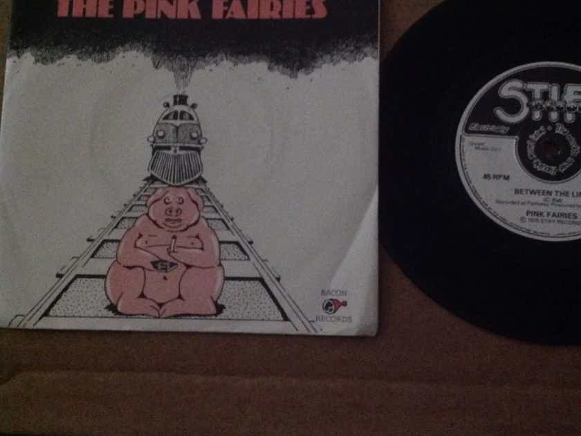 The Pink Fairies - Between The Lines/Spoling For A Fight Stiff Records U.K.Single With Picture Sleeve Vinyl NM