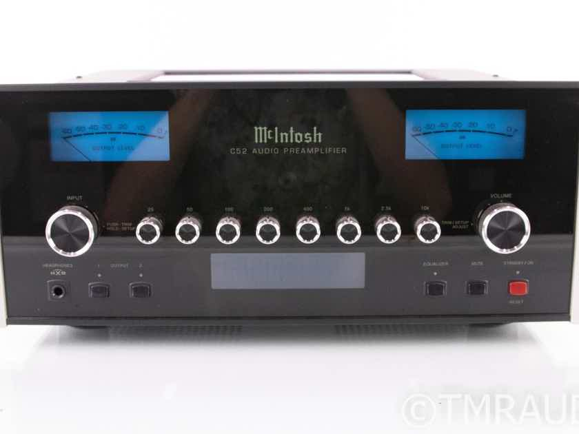 McIntosh C52 Stereo Preamplifier; Remote; MM / MC Phono (18993)