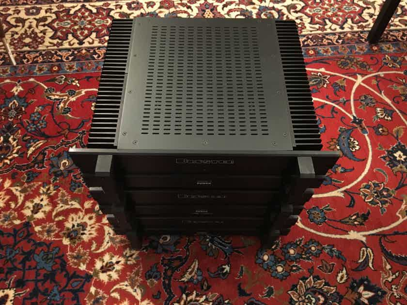Three (3) Bryston 7B-SST Monoblock Power Amplifiers LCR Pro Setup