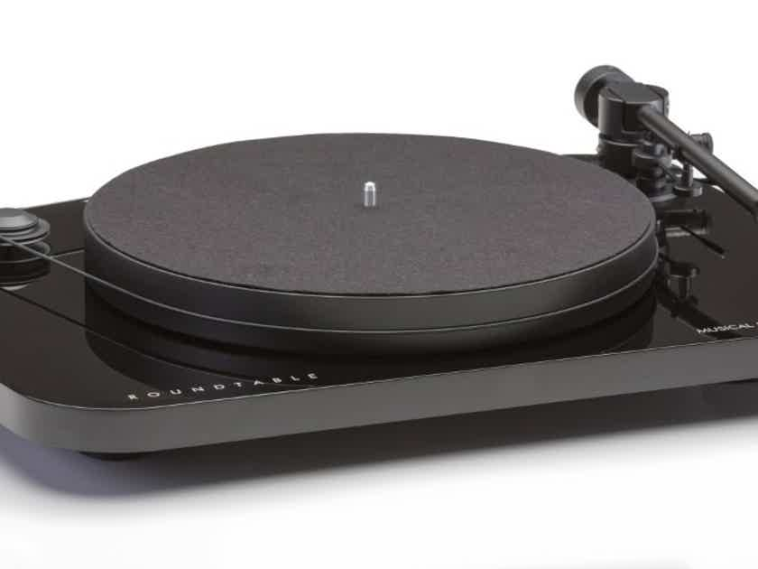 Musical Fidelity Roundtable Turntable System AT95E Cartridge; Gloss Black (New) (14553)