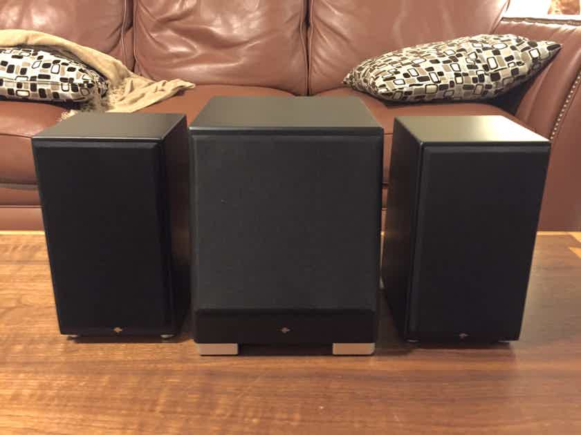 TOTEM KIN MINI SPEAKERS & MINI SUB IN SATIN BLACK