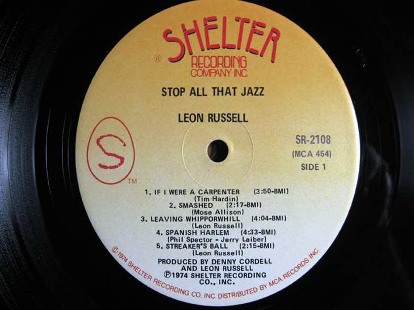Leon Russell - Stop All That Jazz  - 1974 Shelter Recording Company Inc. SR-2108