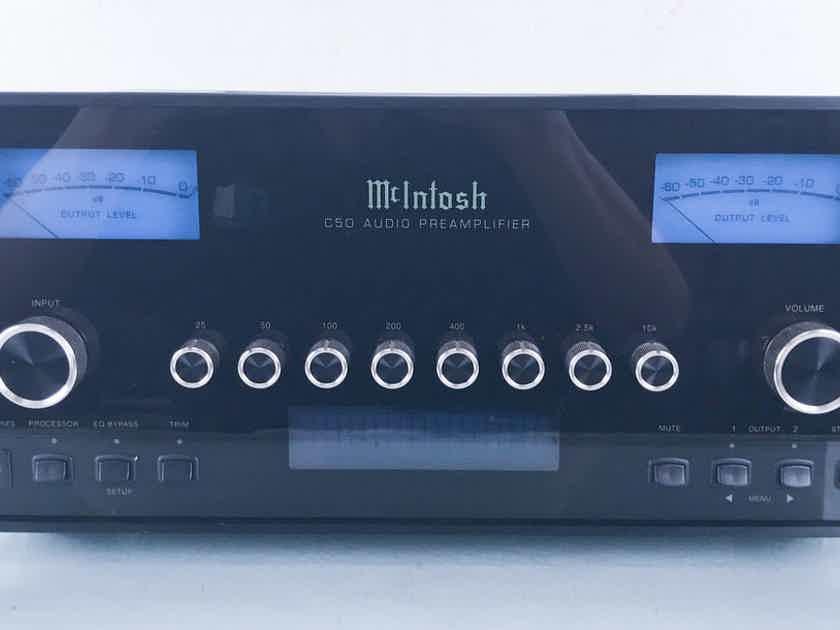 McIntosh C50 Stereo Preamplifier C-50; Remote (15105)