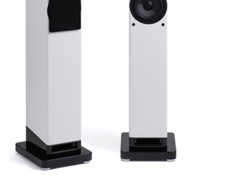 Scansonic M6 Demo Column speakers with Ribbons-Raidho DNA