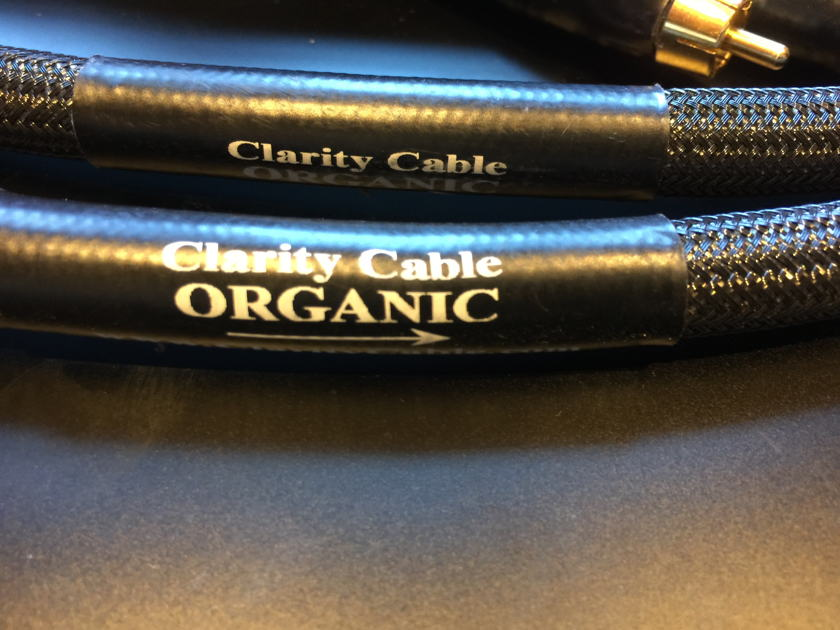 Clarity Cable Organic  1m RCA Interconnect